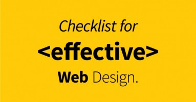 Checklist For Effective Web Design